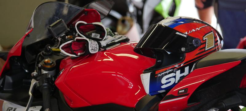 La moto Yamaha de Denis Bouan sur le circuit de Mugello